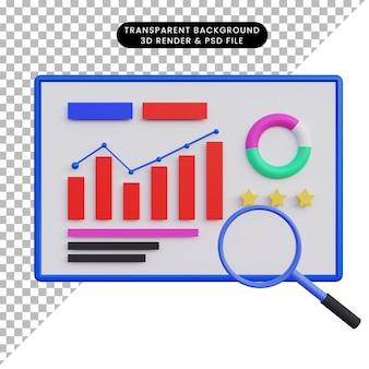 3d illustration data analytics