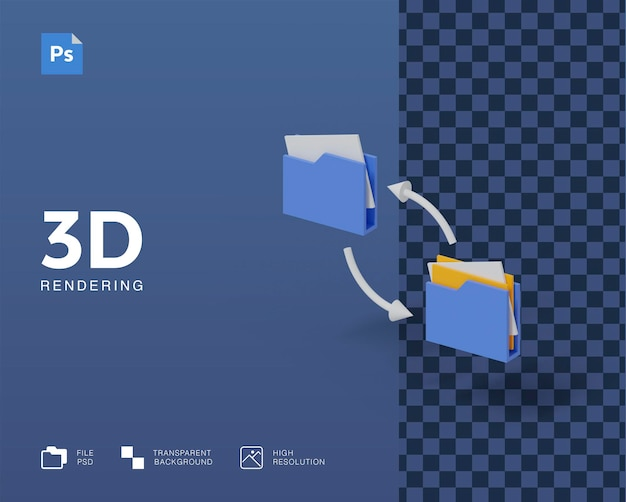 Передача данных 3d-иллюстраций
