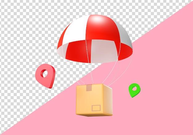 3d illustration delivery box