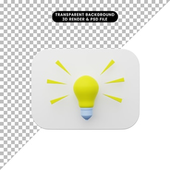 3d illustration of element user interface ui simple icon