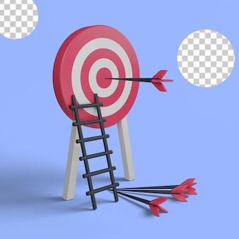 3d иллюстрации сосредоточены на бизнес-целях, достижениях, победах
