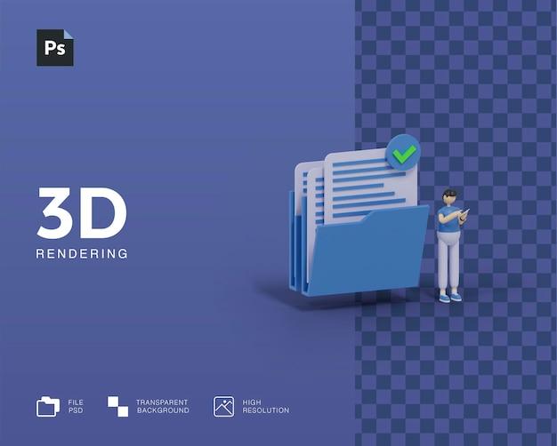 3dイラストフォルダへのアクセス