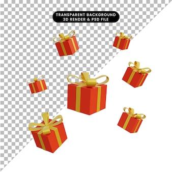 3d иллюстрация подарочная коробка осень