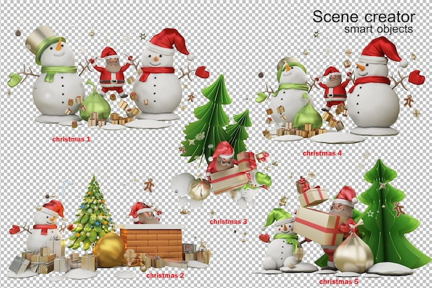 3d illustration a gift from santa claus on christmas day