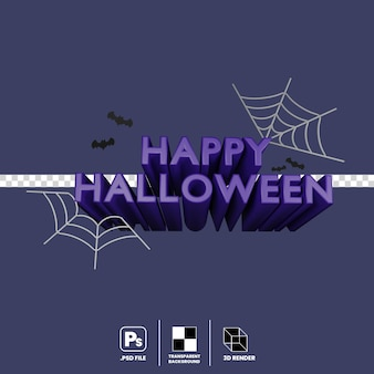 3d illustration of halloween party