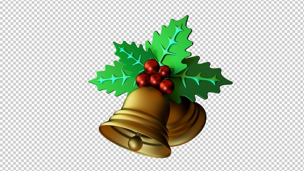 3d illustration jingle bells isolated