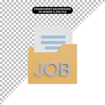 3d иллюстрации наем на работу ищет сотрудника