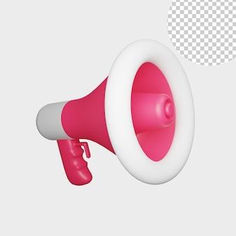 3d illustration of megaphone for you business