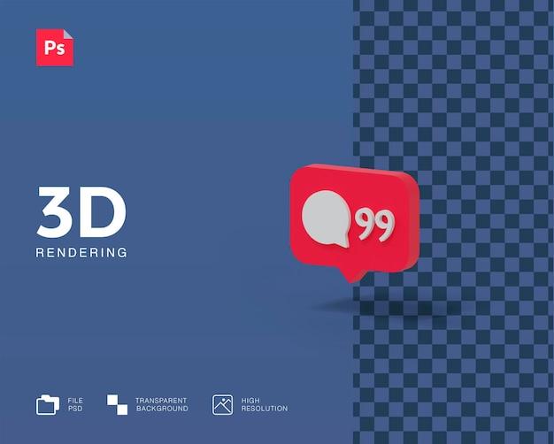 3d illustration notification