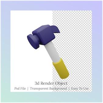 3d иллюстрации молотка для нужд рабочего дня1