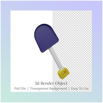 3d иллюстрации лопаты для рабочих нужд