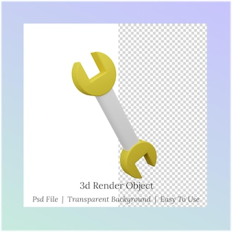 3d иллюстрации гаечный ключ для нужд рабочего дня