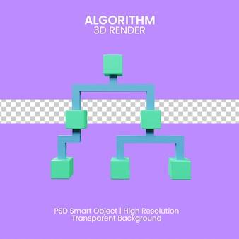 알고리즘의 3d 그림