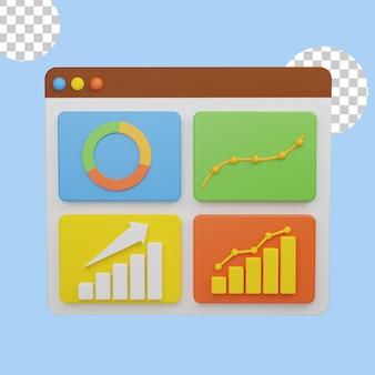 3d иллюстрации анализа графиков роста