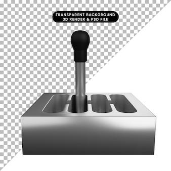 自動車部品スタッフシフターの3dイラスト