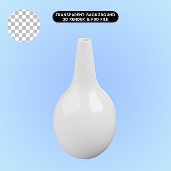 3d иллюстрации керамической вазы