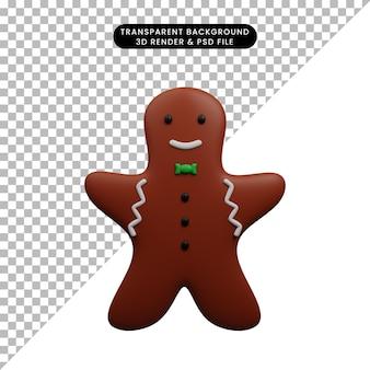 크리스마스 장식 간단한 개체 크리스마스 쿠키 진저의 3d 그림