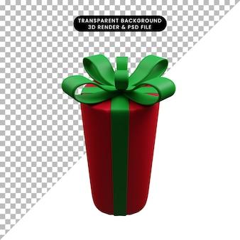 크리스마스 장식 간단한 개체 선물 상자의 3d 그림