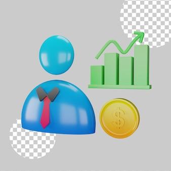 3d иллюстрации управления данными
