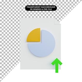 3d иллюстрации увеличения отчета данных