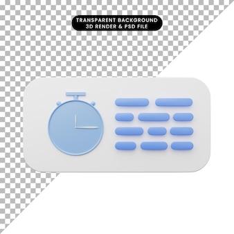 要素のユーザーインターフェイスuiのシンプルなアイコンの3dイラスト
