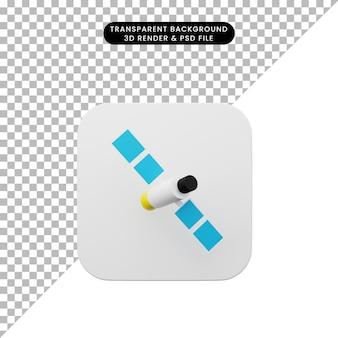 要素のユーザーインターフェイスuiシンプルアイコンの3dイラスト