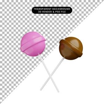 3d иллюстрации еды конфеты чуппа чуп
