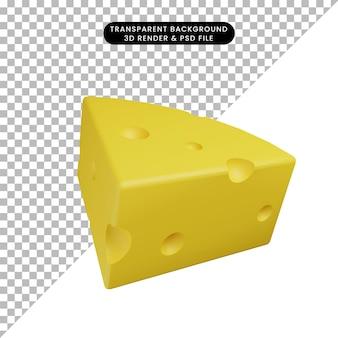 3d иллюстрации пищевого сыра