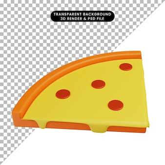 3d иллюстрации еды пиццы