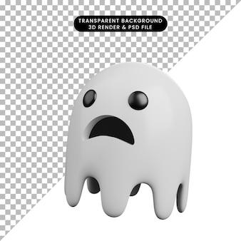 3d иллюстрации призрак концепции хэллоуина