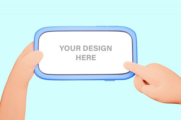 Иллюстрация 3d рук держа телефон