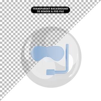 3d иллюстрации объекта, плавающего в google внутри пузырей