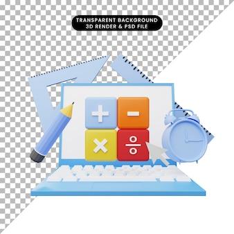 3d иллюстрации онлайн-образования