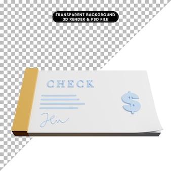 3d иллюстрации проверки квитанции концепции оплаты