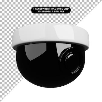 3d иллюстрации концепции безопасности видеонаблюдения