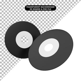 シンプルなアイコンディスクオプティックの3dイラスト