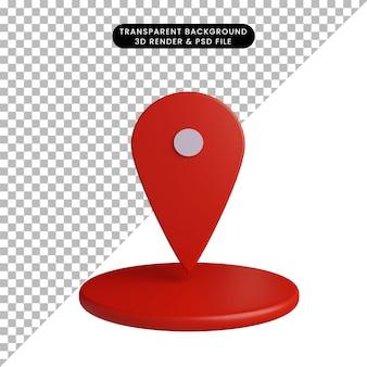 3-я иллюстрация простого местоположения значка