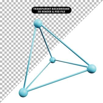 シンプルなアイコンの物理学の3dイラスト