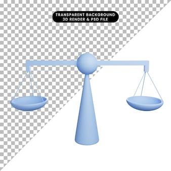 シンプルなアイコンスケールの3dイラスト
