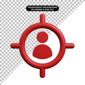 대상과 간단한 개체 사람 기호의 3d 그림