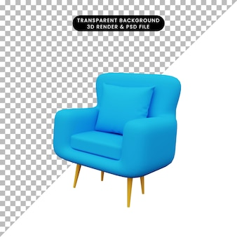 3d иллюстрации односпальных диванов