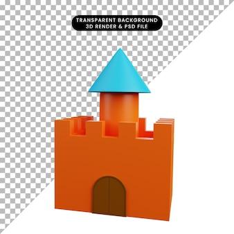 3d иллюстрации игрушечный замок