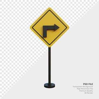 교통 표지의 3d 일러스트