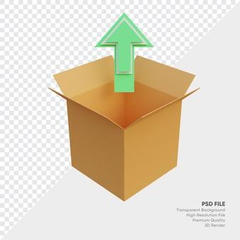 アップロードボックスの3dイラスト