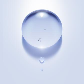 分離された水滴の3dイラスト