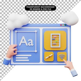 3d иллюстрации веб-иллюстрации с 3d-стилем