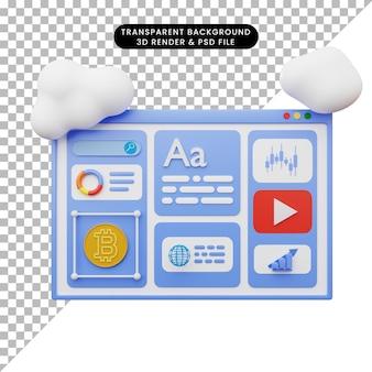 3d 스타일로 웹 그림의 3d 그림
