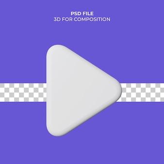Значок воспроизведения видео 3d иллюстрации premium psd