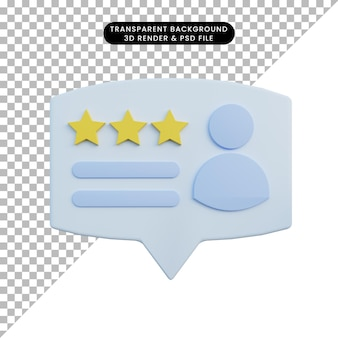 3d illustration rating with people icon