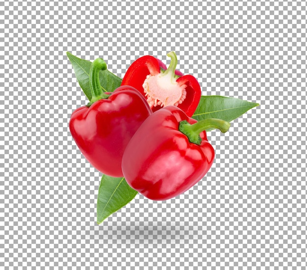 3d illustration of red peppers isolated